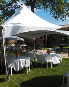 15 x 15 festival frame tent seating 16 people. 844-TENT PRO