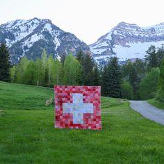 Edelweiss - Switzerland Flag Quilt Pattern - Downloadable PDF