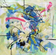 Small abstract painting affordable art affordable wall art