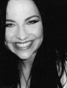 Amy Lee's smile is flawless.