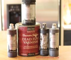 Glazing products for turning non-wood items to look like stained wood.