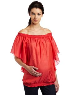Amazon.com: Jules & Jim Women's Maternity Fashion Blouse In Silk: Clothing