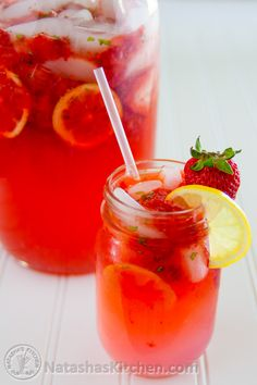 The days are getting longer and warmer. My days are really long; studying for my nursing boards (sigh). If you are craving something cold and refreshing, this is it! Strawberry lemonade makes for a great party drink; or make a jug for your family and...