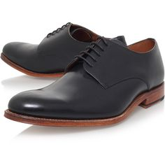 Toby Derby Grenson Black (5,330 MXN) ❤ liked on Polyvore featuring men's fashion, men's shoes and black