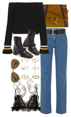 """""""Untitled #10230"""" by nikka-phillips ❤ liked on Polyvore featuring Victoria, Victoria Beckham, Yves Saint Laurent, Chloé, 3.1 Phillip Lim, Miss Selfridge, Topshop, Ray-Ban and Isabel Marant"""