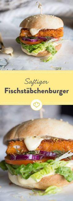 Nach Feierabend kann das Essen nicht schnell genug auf dem Teller sein? Dann versuche es mal mit diesem Fischstäbchen-Burger. Feierabend Ahoi!
