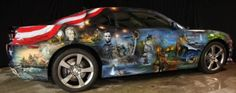 American-Pride-Camaro airbrushed by Mickey Harris with air brushed with Badger Air/ Thayer & Chandler