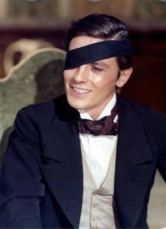 Alain Delon in The Leopard (Visconti, 1963).