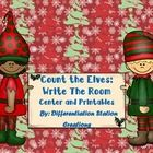 FREE!! Elf Counting! Write the Room! Count the Room!   This is an elf / Christmas themed math center. It is perfect for preschool and Kindergarten,...