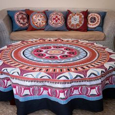 Round Tablecloths ~ African Circles Designs