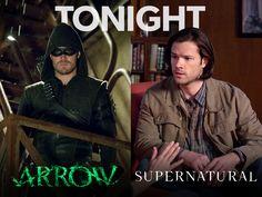 Arrow and Supernatural return tonight Dc Comic Books, Comic Book Heroes, Victor Garber, David Ramsey, Al Ghul, Supernatural Tv Show, Emily Bett Rickards, Stephen Amell, Me Tv