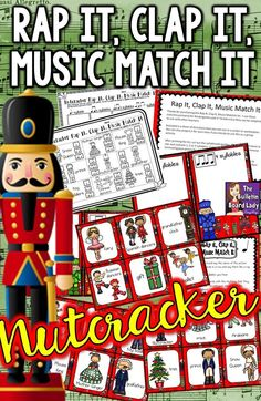 I love this Nutcracker activity for music class. This lesson asks students to match the syllables of pictures from the Nutcracker to rhythms. Great for a music workstation or useful even in the regular classroom, this set is a perfect addition to your Christmas or holiday plans.