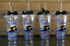 Swim Fast Personalized Swimmer Gift Your Color by jumpingjune