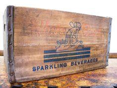 Vintage Wood Crate, White Rock Sparkling Beverages, Brooklyn, New York, 1950s