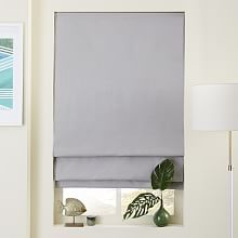 Linen/Cotton Roman Shade + Blackout Liner - Platinum