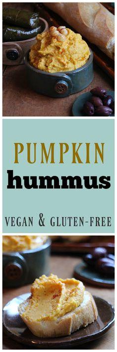 Pumpkin hummus: A terrific alternative to your regular hummus. Great for fall! | cadryskitchen.com