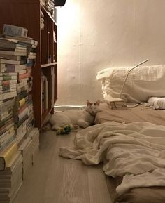 K I love this. It's pretty simple and white but not too much and I love the stack of books