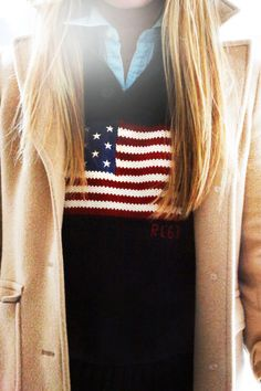 Shirt: Polo Ralph Lauren Sweater: Polo Ralph Lauren Coat: Brooks Brothers