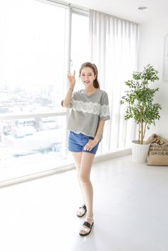 Lace Pattern Tee