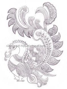 simple art and craft: Madhubani