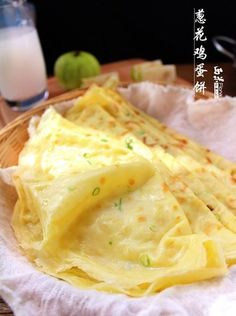 scallion crepes {recipe in Chinese}