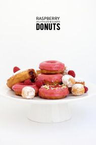 Raspberry Jelly Filled & Glazed Donuts - Style Me Pretty Living