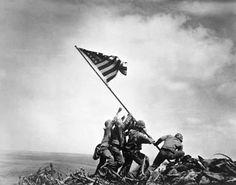 "Art Through Time, unit 3, ""History and Memory""   American Marines Raising American Flag on Mount Suribachi, Iwo Jima  Rosenthal, Joe (American, 1911–2006)"