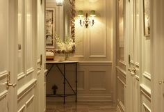 I adore the detail work and molding on these walls. It goes to show that, with the proper touches, white walls are anything but boring.