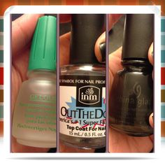 DIY manicure. The Gelous base and the Out The Door topcoat may have changed my mind about having painted nails. This stuff rocks and it's cheap at Sally's!!