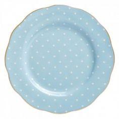 Polka Blue - Talíř 20 cm