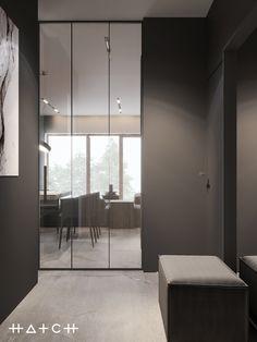 HOUSE IN LODZ,PL on Behance Archi Design, Küchen Design, House Design, Home Interior Design, Interior Architecture, Interior Decorating, Black Rooms, Design Moderne, Cuisines Design