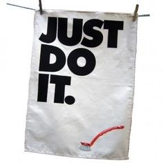 Just Do It kitchen towel