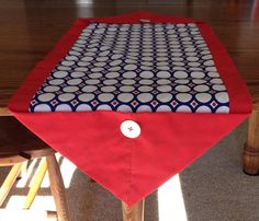 Red white and blue circle pattern table by BlessingsandBabies