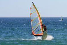 Lignano Sabbiadoro, Italy. Windsurfing
