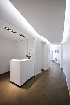 Dr Dumas & Chaine Cabinet in Paris by Swan Architects, nice indirect lighting and ceiling (photo © MVDA™) _