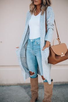 147bfd51f6 My Top 2018 Nordstrom Anniversary Sale Picks  Outfit Ideas From Summer to  Fall. Long Grey CardiganOutfits ...