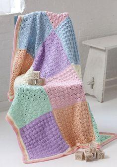 Free Pattern | Sampler Squares Baby Blanket