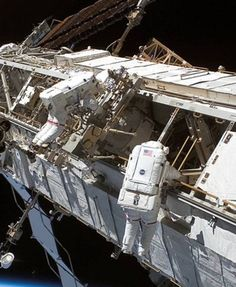 NASA Space Shuttle, building the International Space Station.