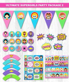 Superhero Girl Party Package Superhero Girl Party by KidzParty