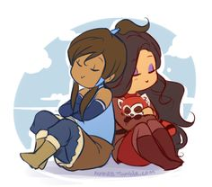 Asami and Korra by nymre