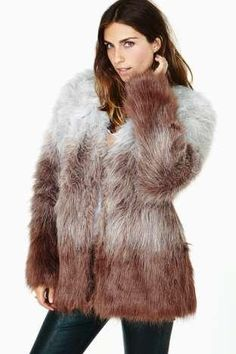 In The Mood Faux Fur Coat
