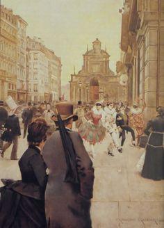 Carnaval a Bruxelles - Franz Gailliard  1886