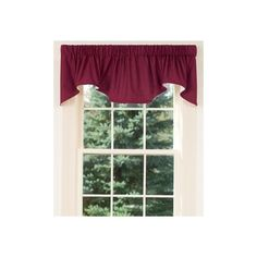 Country Curtains Weaver's Cloth Lined Scalloped Valance (£22) ❤ liked on Polyvore featuring home, home decor, window treatments, curtains, blue, scalloped curtains, blue home decor, blue valance, lining curtains and country valances