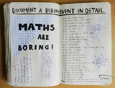Pages132/133: Document a boring event in detail