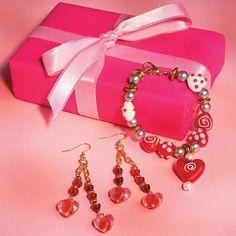 Red Hot Heart Earrings Idea - OrientalTrading.com