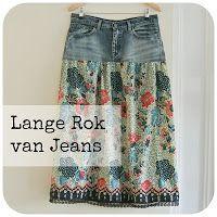 Sew Natural Blog: Van Jeans(rok) naar MaxiSkirt, inclusief tutorial!