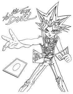 Free Yu Gi Oh Coloring Page Pages 105 Printable