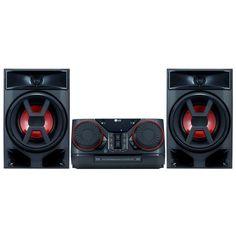 Color negro Bluetooth, radio FM y USB grabador Altavoz inal/ámbrico Hi-Fi LG FH6