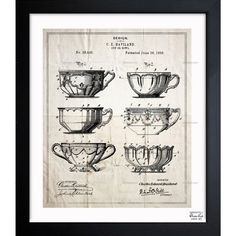 Exclusive blueprints inspired by real vintage patent drawings and illustrations. Handcrafted in the Oliver Gal Artist Co. Studios in Miami, Florida. Produced on matte proofing paper and hand framed by professional framers in a premium black frame. Perfect for any interior design project, gifts, office décor, or to add special value to one of your favorite collections.