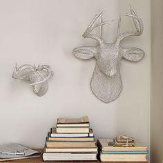 Papier-Mâché Animal Sculptures - Newsprint Deer #WestElm